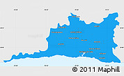 Political Simple Map of Santiago de Cuba, single color outside