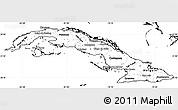 Blank Simple Map of Cuba