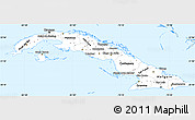Classic Style Simple Map of Cuba