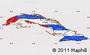 Flag Simple Map of Cuba