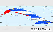 Flag Simple Map of Cuba, single color outside