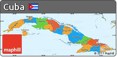 Free Political Simple Map Of Cuba - Political map of cuba