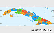 Political Simple Map of Cuba