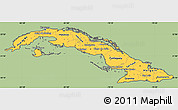 Savanna Style Simple Map of Cuba, cropped outside