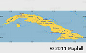 Savanna Style Simple Map of Cuba
