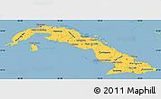 Savanna Style Simple Map of Cuba, single color outside