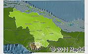 Physical 3D Map of Villa Clara, darken