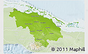 Physical 3D Map of Villa Clara, lighten