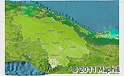 Physical 3D Map of Villa Clara, satellite outside