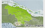 Physical 3D Map of Villa Clara, semi-desaturated