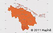 Political Map of Villa Clara, cropped outside