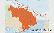 Political Map of Villa Clara, lighten