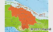 Political Map of Villa Clara, physical outside