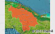 Political Map of Villa Clara, satellite outside