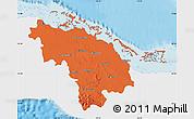 Political Map of Villa Clara, single color outside