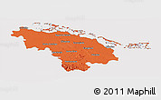 Political Panoramic Map of Villa Clara, cropped outside