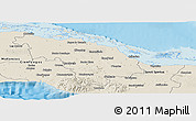 Shaded Relief Panoramic Map of Villa Clara
