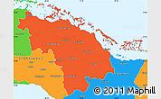 Political Simple Map of Villa Clara