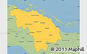 Savanna Style Simple Map of Villa Clara