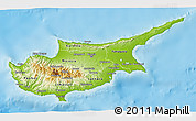 Physical 3D Map of Cyprus