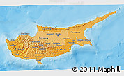 Political Shades 3D Map of Cyprus
