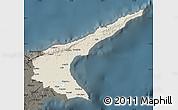 Shaded Relief Map of Famagusta, darken