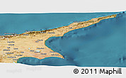 Satellite Panoramic Map of Famagusta