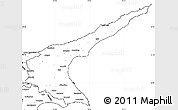 Blank Simple Map of Famagusta