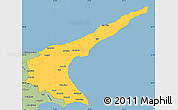 Savanna Style Simple Map of Famagusta