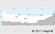 Gray Simple Map of Kyrenia