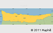 Savanna Style Simple Map of Kyrenia