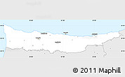 Silver Style Simple Map of Kyrenia
