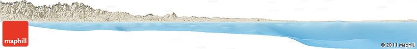 Shaded Relief Horizon Map of Larnaca
