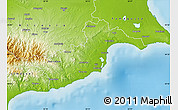 Physical Map of Larnaca