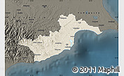 Shaded Relief Map of Larnaca, darken