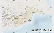 Shaded Relief Map of Larnaca, lighten