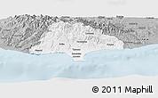 Gray Panoramic Map of Limassol