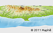 Physical Panoramic Map of Limassol