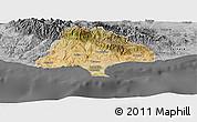 Satellite Panoramic Map of Limassol, desaturated