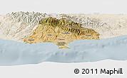 Satellite Panoramic Map of Limassol, lighten