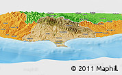 Satellite Panoramic Map of Limassol, political outside