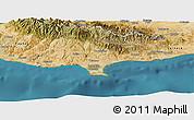 Satellite Panoramic Map of Limassol