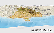 Satellite Panoramic Map of Limassol, shaded relief outside