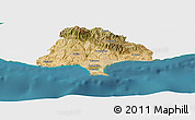 Satellite Panoramic Map of Limassol, single color outside