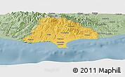 Savanna Style Panoramic Map of Limassol