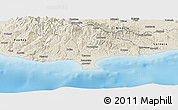 Shaded Relief Panoramic Map of Limassol