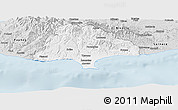 Silver Style Panoramic Map of Limassol