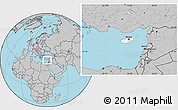 Blank Location Map Of Cyprus Highlighted Continent - Cyprus blank map