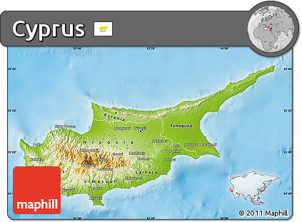 Free physical map of cyprus single color outside physical map of cyprus single color outside sciox Gallery
