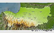 Physical Map of Nicosia, darken